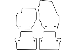 Volvo S80 II 2006-2016 4d car mat set (VOL2S8MV)
