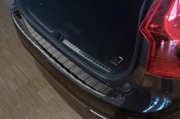 Volvo V90 II 2016-present wagon rear bumper protector stainless steel high gloss black (VOL4V9BP)