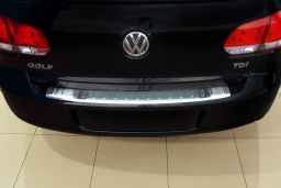 Volkswagen Golf VI (5K) 2008-2012 5-door hatchback rear bumper protector stainless steel (VW11GOBP) (1)