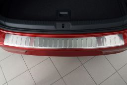 Volkswagen Golf VII (5G) 2012-> 5-door hatchback rear bumper protector stainless steel (VW13GOBP) (1)