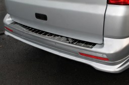 Volkswagen Transporter T6 2015-present rear bumper protector stainless steel high gloss black (VW15T6BP)