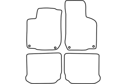 Volkswagen Golf IV Cabriolet (1J) 1998-2001 car mat set (VW17GOMV)