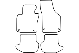 Volkswagen Eos 2006-2015 car mat set (VW1EOMV)