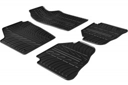 Volkswagen Fox 2004-2011 3-door hatchback car mats set anti-slip Rubbasol rubber (VW1FOFR)