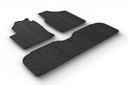 Volkswagen Sharan I (7M) 1995-2010 car mats set anti-slip Rubbasol rubber (VW1SHFR)