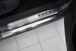 Door sill plates Volkswagen Golf VII (5G) 2012-2020 5-door hatchback stainless steel (VW27GOEA) (1)