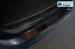 Volkswagen Passat Variant (B8) 2014- rear bumper protector graphite stainless steel - carbon (VW33PABP)