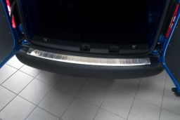 Volkswagen Caddy - Caddy Maxi (2K) 2004-> rear bumper protector stainless steel (VW3CABP) (1)