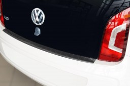 Rear bumper protector Volkswagen up! 2011-present 3 & 5-door hatchback stainless steel anthracite (VW6UPBP) (1)