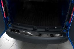 Volkswagen Caddy - Caddy Maxi (2K) 2004-> rear bumper protector stainless steel black (VW8CABP) (1)