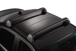 Whispbar Flush Bar Roof bars black set flat roof rails
