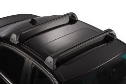Whispbar Flush Bar roof rack bars set black / Dachträger Schwarz / dakdragers set zwart / jeu de barres de toit noir (3F)