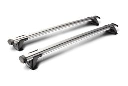 Whispbar Through Bar roof rack bars set silver / Dachträger Silber / dakdragers set zilver / jeu de barres de toit argent (1)