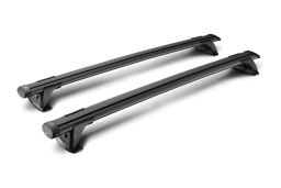 Whispbar Through Bar roof rack bars set black / Dachträger Schwarz / dakdragers set zwart / jeu de barres de toit noir (1)