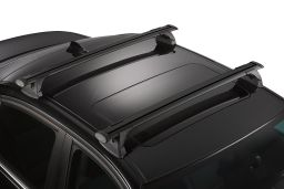 Whispbar Through Bar roof rack bars set black / Dachträger Schwarz / dakdragers set zwart / jeu de barres de toit noir (3F)