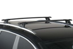 Whispbar Through Bar roof rack bars set black / Dachträger Schwarz / dakdragers set zwart / jeu de barres de toit noir (3R)