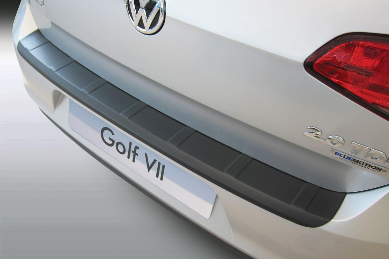 Rear bumper protector Volkswagen Golf VII (5G) 2012-2020 3 & 5-door hatchback ABS - silver