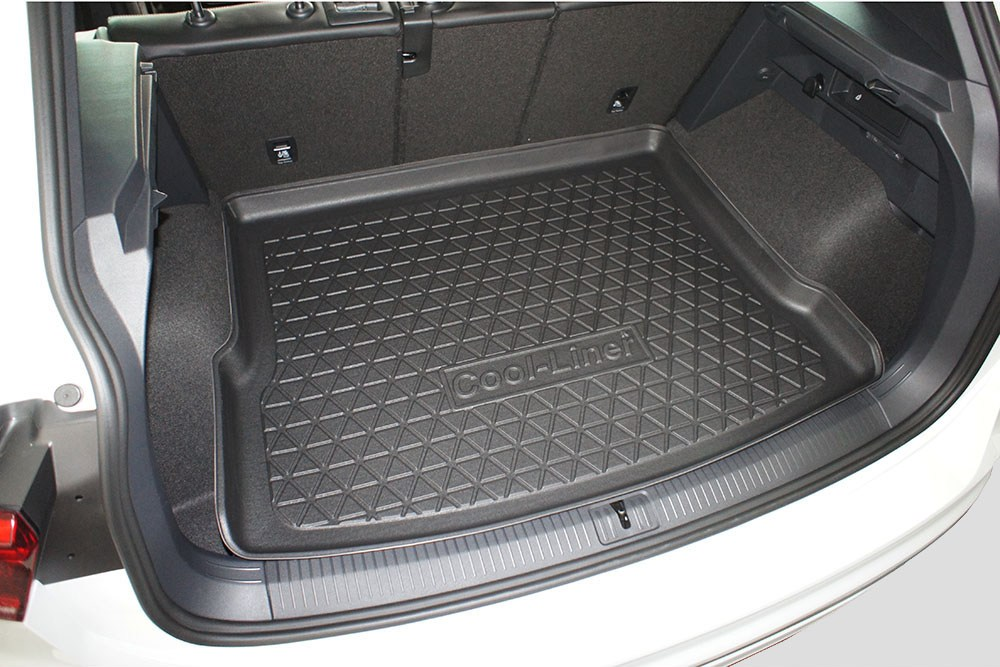 bac tapis de coffre volkswagen tiguan ii 2015 pr sent bac tapis de coffre antid rapant pe. Black Bedroom Furniture Sets. Home Design Ideas